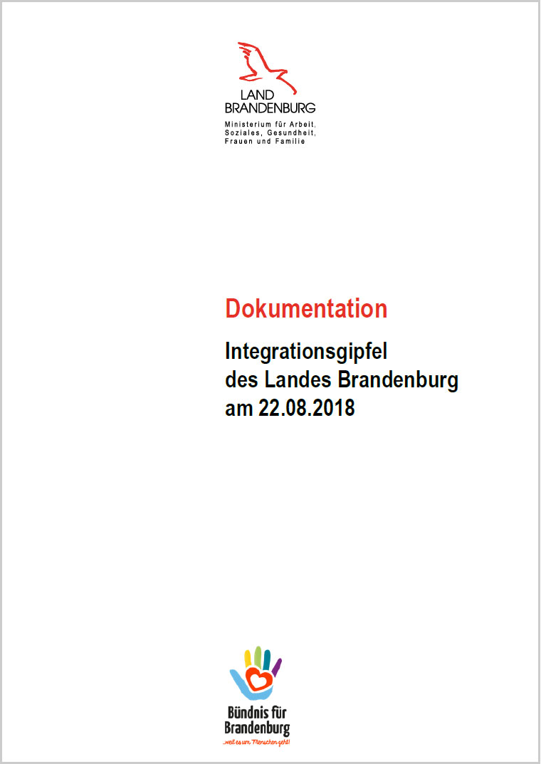 Titel: Dokumentation Integrationsgipfel des Landes Brandenburg am 22.08.2018